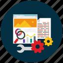 development, optimization, seo, website icon icon