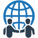 business, deal, global, partnership icon