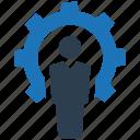 business, gear, job, settings, specialist icon