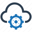 cloud, gear, network, options, settings icon