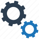 configuration, gears, options, settings, system, tools icon