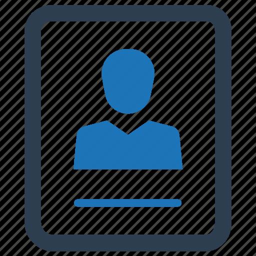 curriculum, cv, portfolio, profile, resume icon