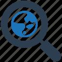 explore, internet, magnifier, network, search, search engine, web icon