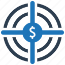goal, investment, money, profit, target icon