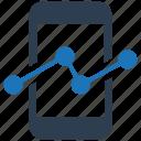 graph, marketing, mobile, statistics, trend icon