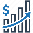 growth, income, profit, report, sales icon