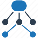 connection, hierarchy, management, network, structure icon