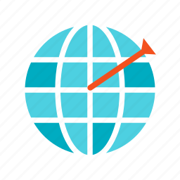 business, corporate, finance, geo, success, target, targeting icon