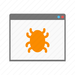 browser, bug, computer, crawler, internet, search, window icon