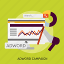 adword, campaign, development, seo icon
