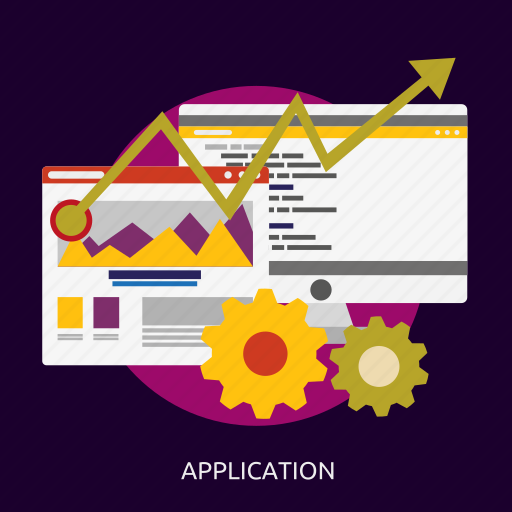 application, concept, development, seo, software icon