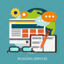 blogging, development, seo, services icon