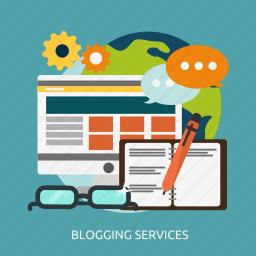 blogging, development, seo, services icon
