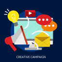campaign, creative, development, seo icon