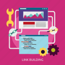 building, development, link, seo icon