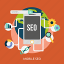 advertising, content, development, marketing, mobile, seo icon