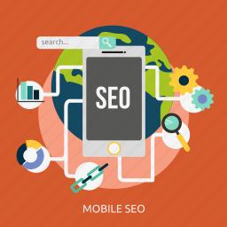advertising, content, development, marketing, mobile, seo icon