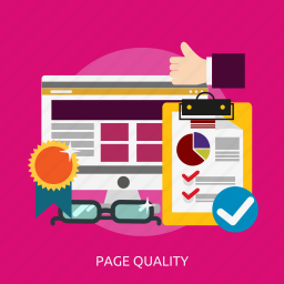 development, page, quality, seo icon