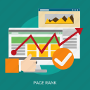 development, page, rank, seo icon