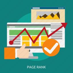 development, page, rank, seo icon