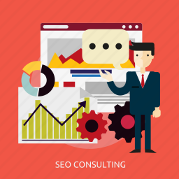 analytics, consulting, development, management, research, seo icon
