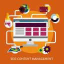 content, development, management, seo icon