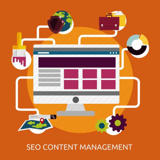 content, development, management, seo icon