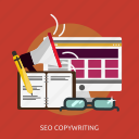 article, content, copywriting, development, publish, seo icon