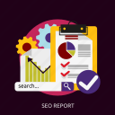 analytics, development, graph, information, report, seo icon
