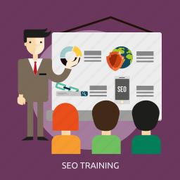 concept, development, resource, seo, training icon