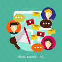 development, marketing, seo, viral icon