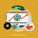 analytics, development, seo, web icon