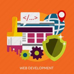 concept, development, marketing, optimization, seo, web icon