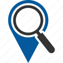 find, local, search, seo, zoom icon