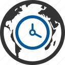 global, seo, time, zone icon