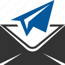 delivery, launch, mail, message, post, send icon