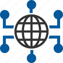 connectivity, network, connection, international, internet icon