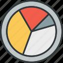 analytics, analyze, chart, pie icon