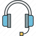 customer, headset, microphone, service icon