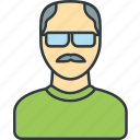 elderly, old, person, profile, user icon
