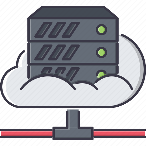 cloud, data, file, folder, repository, seo, server icon
