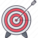 arrow, business, marketing, seo, site, target icon