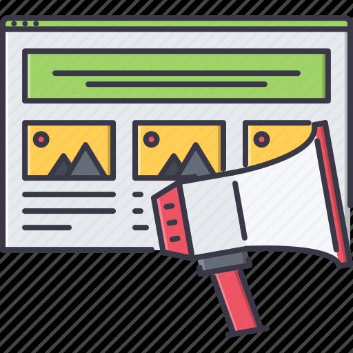 marketing, promotion, seo, site, web icon