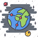 communication, earth, internet, network, planet, space icon