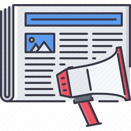 horn, marketing, news, press, promotion, release, seo icon