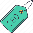 marketing, optimization, promotion, seo, site, tag icon