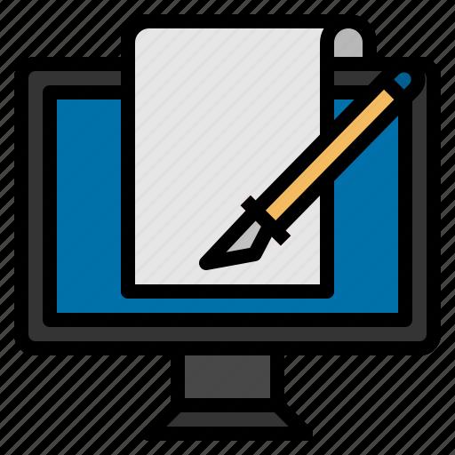 board, web, writing icon