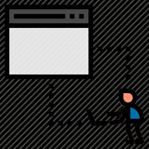 computer, monitoring icon