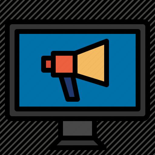 marketing, megaphone, website icon