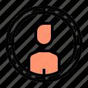 target, user